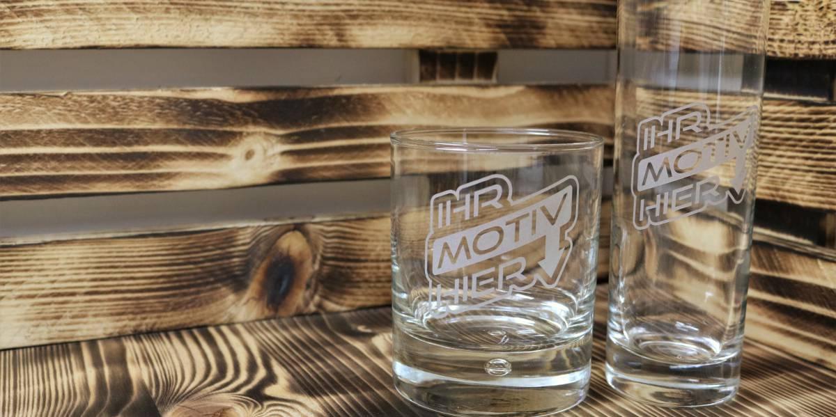 Gravierte Gläser
