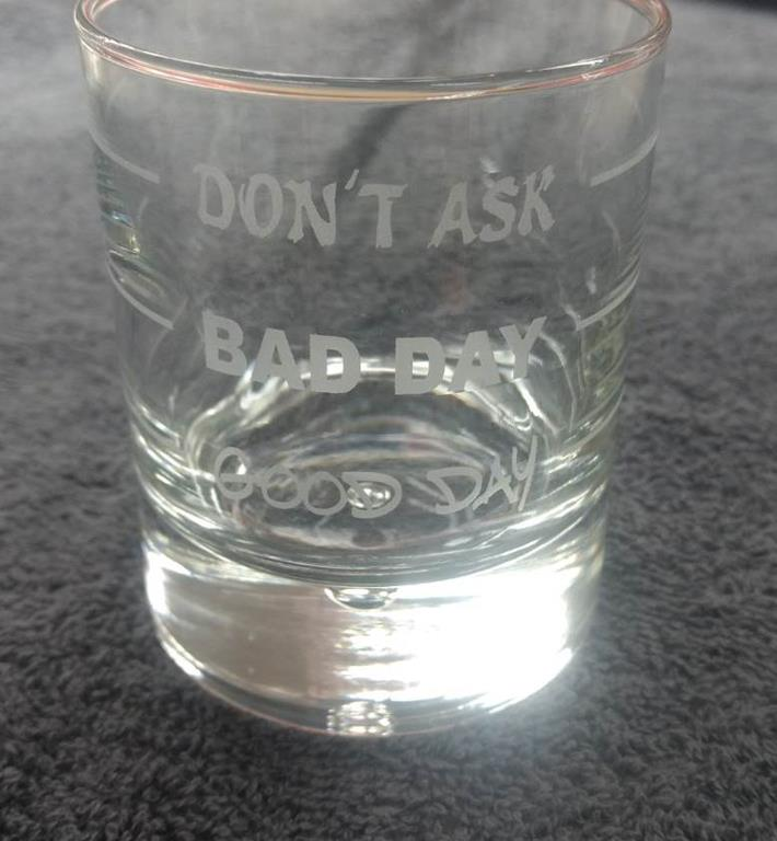 Trinkglas Gravur