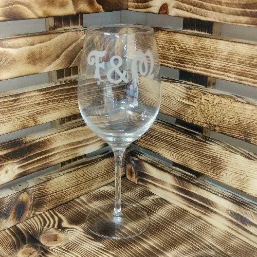 Graviert Rotweinglas