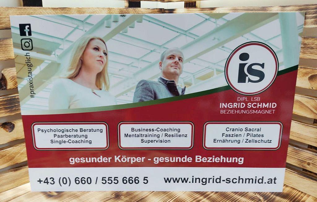 Aluschild Ingrid Schmid
